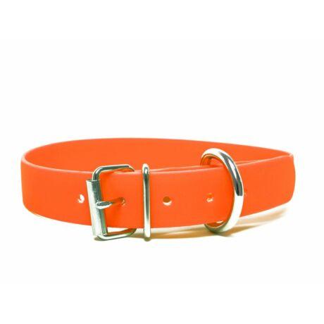 Mystique® Biothane nyakörv classic 25mm narancsárga 40-48cm