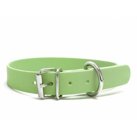 Mystique® Biothane nyakörv classic 25mm pasztell zöld 50-58cm
