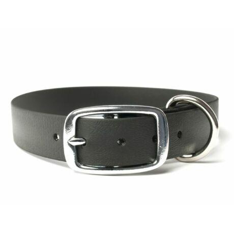 Mystique® Biothane deluxe nyakörv 25mm fekete 45-53cm
