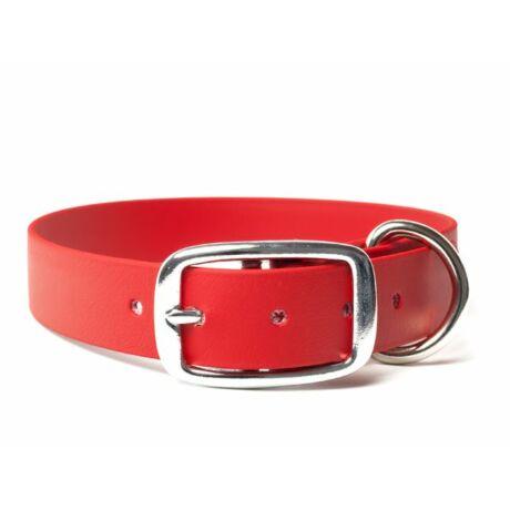 Mystique® Biothane deluxe nyakörv 25mm vörös 50-58cm