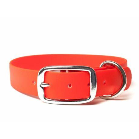 Mystique® Biothane deluxe nyakörv 25mm narancsárga 50-58cm