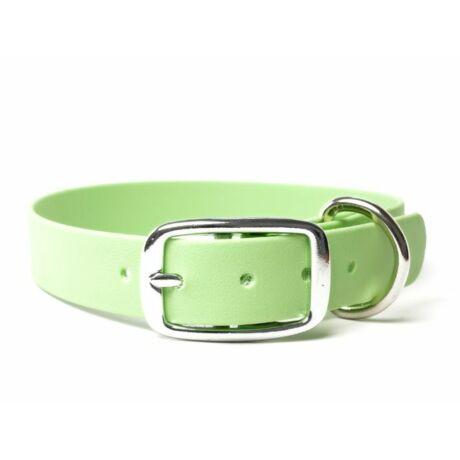 Mystique® Biothane deluxe nyakörv 25mm pasztell zöld 45-53cm
