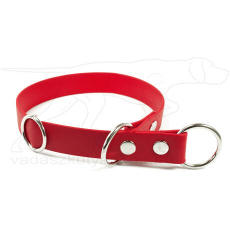 Biothane fojtó nyakörv stoppal piros, 40cm
