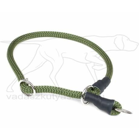 Mystique® Nyakörv nylon kerek stoppal 8mm 35cm olive zöld