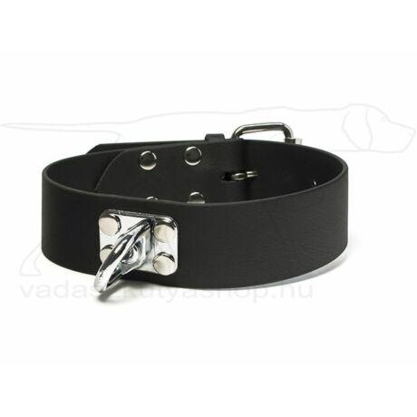 Mystique® Biothane utánkereső nyakörv fekete 38mm  50-60cm