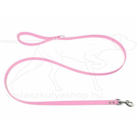 BioThane Klasszikus póráz nikkelezett karabínerrel pasztell rózsaszín 16mm