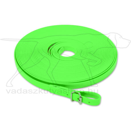 Mystique® Biothane utánkereső póráz 13mm neonzöld 10m