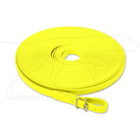 Mystique® Biothane utánkereső póráz 19mm neonsárga 10m