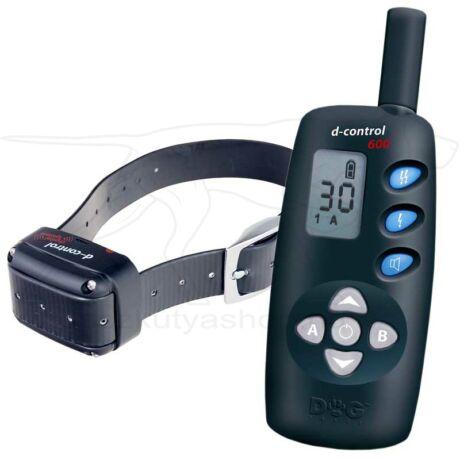 D Control 600 elektromos nyakörv (600m) – Dogtrace – biothane nyakszíjjal