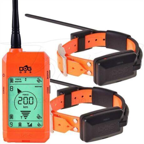 GPS szett DOG GPS X22 Plusz két kutyához Narancs – Dogtrace