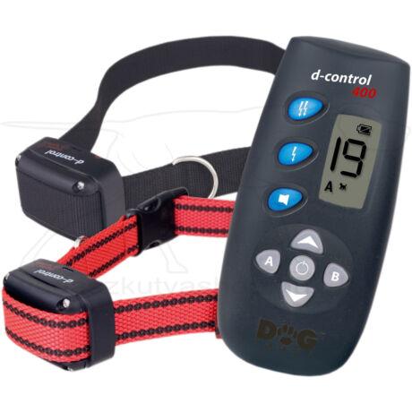 D Control 402 elektromos kutyakiképző nyakörv szett (250m) – Dogtrace – textil nyakszíjjal