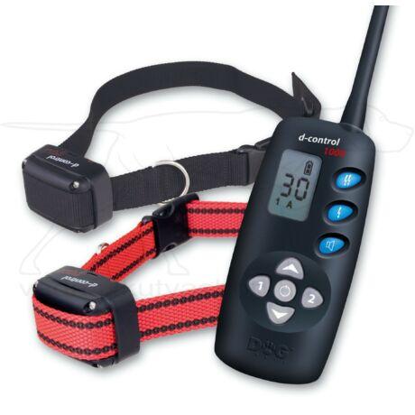 D Control 1002 elektromos kutyakiképző nyakörv szett (1000m) – Dogtrace – textil nyakszíjjal