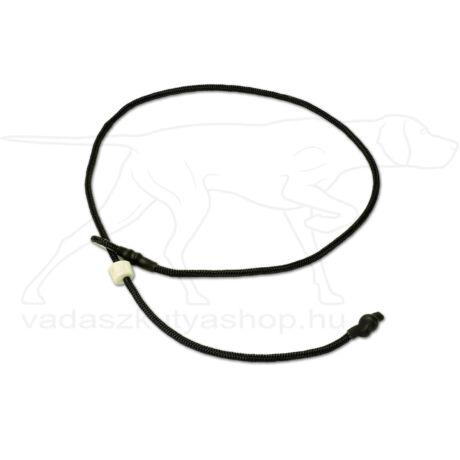 """Mystique® Field trial moxon """"Short leash"""" póráz 4mm 80cm fekete"""