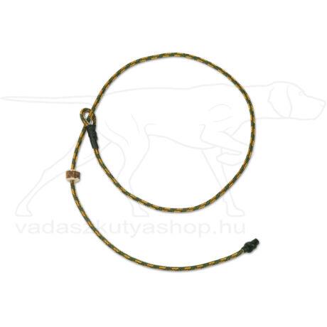 """Mystique® Field trial moxon """"Short leash"""" póráz 4mm 80cm zöldes/narancssárga"""