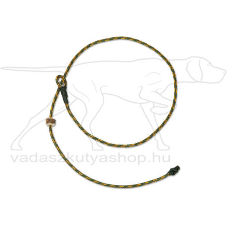 """Mystique® Field trial moxon """"Short leash"""" póráz 4mm 65cm zöldes/narancssága"""