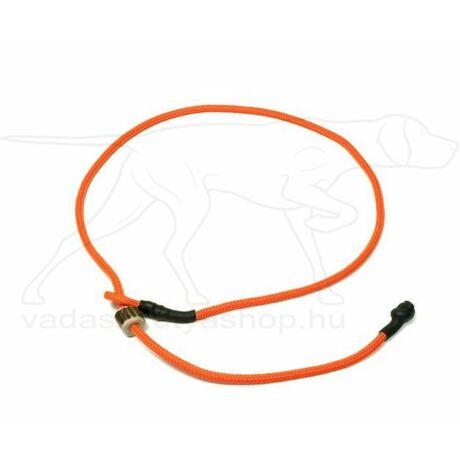 "Mystique® Field trial moxon ""Short leash"" póráz 4mm 80cm neon narancssárga"