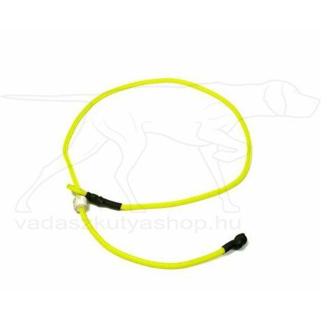 "Mystique® Field trial moxon ""Short leash"" póráz 4mm 65cm neonsárga"