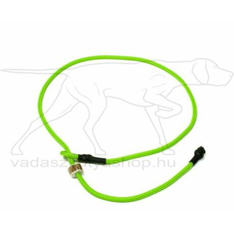 "Mystique® Field trial moxon ""Short leash"" póráz 4mm 65cm neonzöld"