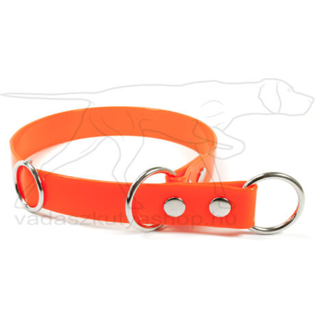 Biothane fojtó nyakörv stoppal narancssárga, 55cm
