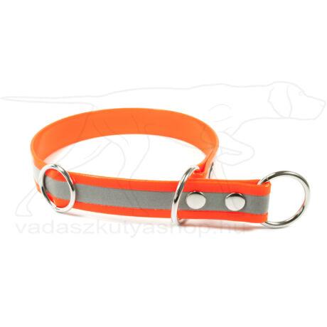 Biothane Gold fojtó nyakörv stoppal, fényvisszaverő narancssárga, 45 cm