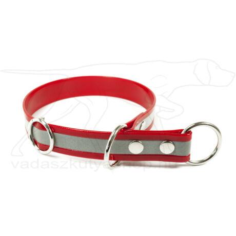 Biothane Gold fojtó nyakörv stoppal, fényvisszaverő piros, 45 cm