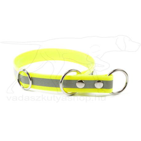 Biothane Gold fojtó nyakörv stoppal, fényvisszaverő citromsárga, 45 cm