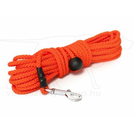 Mystique® Nylon nyomkövető-utánkereső póráz, gömbölyű 7mm-es narancssárga, 10m