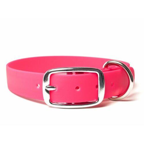 Mystique® Biothane deluxe nyakörv 25mm neon rózsaszin 50-58cm