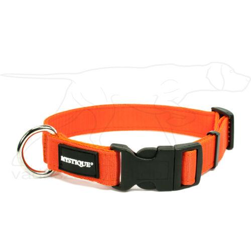 Mystique® Nylon nyakörv 25mm neonnarancssárga 50-60cm