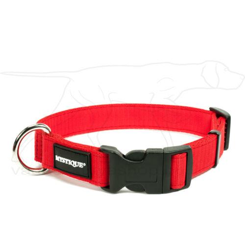 Mystique® Nylon nyakörv 25mm piros 55-65cm