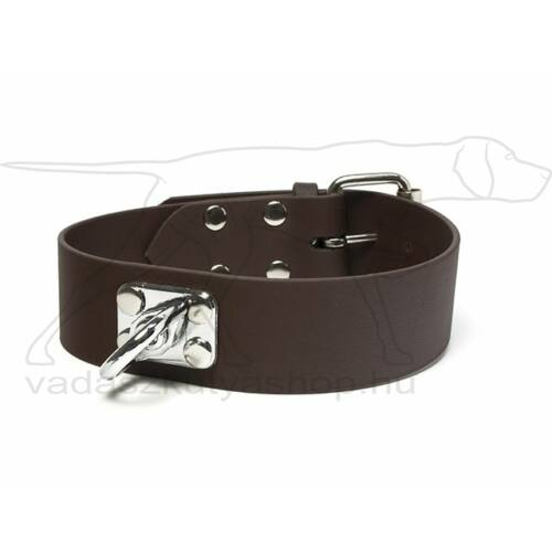 Mystique® Biothane utánkereső nyakörv barna 38mm 40-50 cm