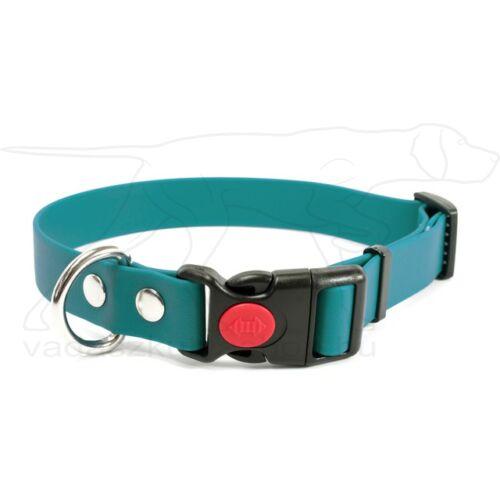 Mystique® Biothane safety click collar 19mm 30-40cm világos zöld
