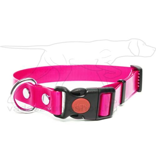 Mystique® Biothane safety click collar 25mm 40-50cm rózsaszín gold