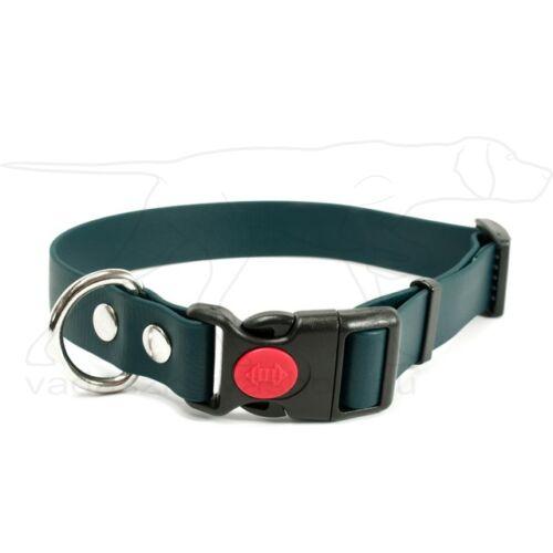 Mystique® Biothane safety click collar 25mm 40-50cm zöld