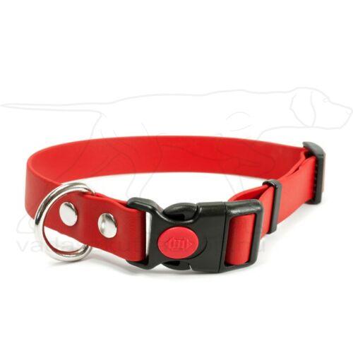 Mystique® Biothane safety click collar 19mm 30-40cm piros