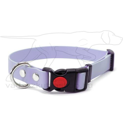 Mystique® Biothane safety click collar 25mm 40-50cm pastel lila