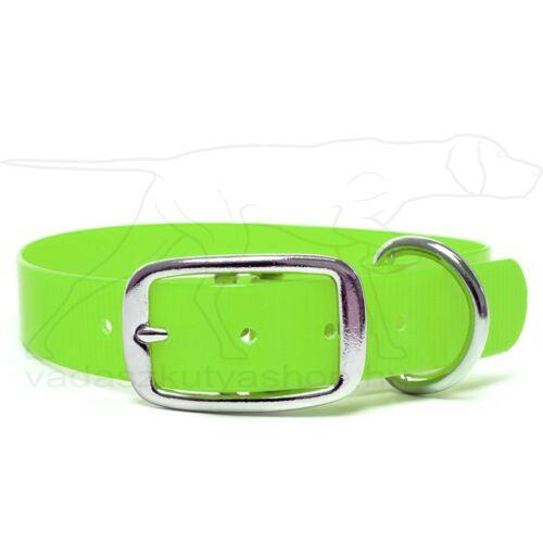 Mystique® Biothane Deluxe nyakörv 25mm light green gold 40-48cm