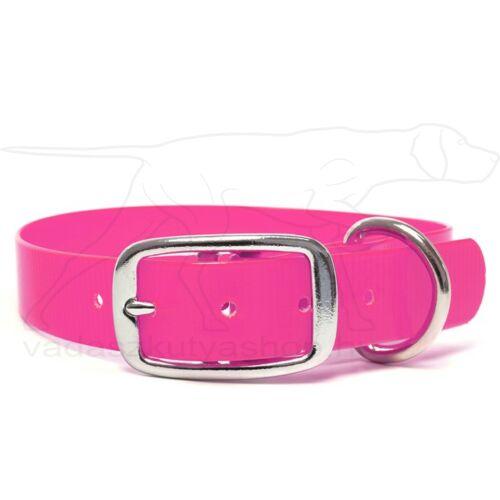 Mystique® Biothane Deluxe nyakörv 25mm pink gold 40-48cm