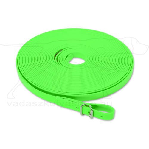 Mystique® Biothane utánkereső póráz 16mm neonzöld 12m