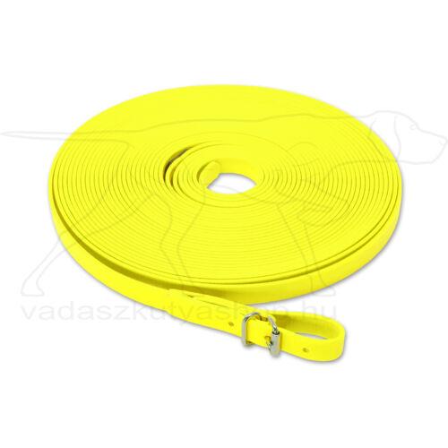 Mystique® Biothane utánkereső póráz 13mm neonsárga 12m