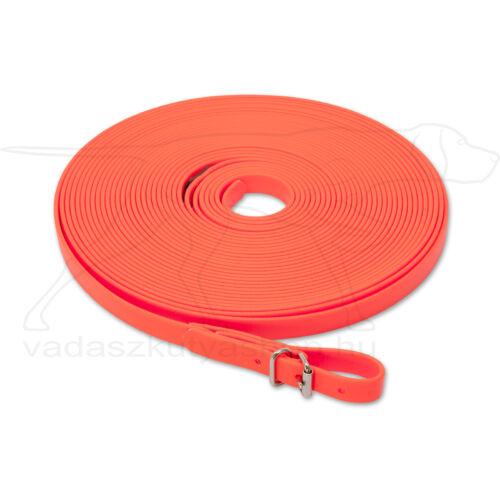 Mystique® Biothane utánkereső póráz 13mm neonnarancssarga 12m
