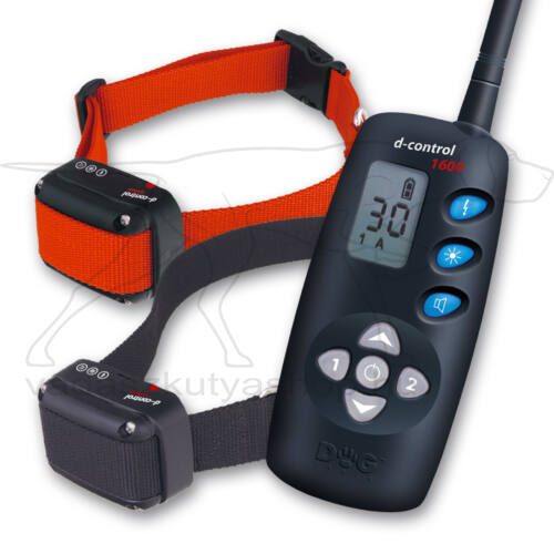 D Control 1602 elektromos kiképző nyakörv (1600m) – Dogtrace – textil nyakszíjjal