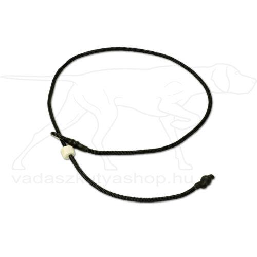 """Mystique® Field trial moxon """"Short leash"""" póráz 4mm 65cm fekete"""