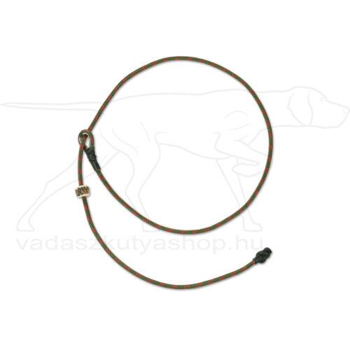 "Mystique® Field trial moxon ""Short leash"" póráz 4mm 65cm zöldes/piros"