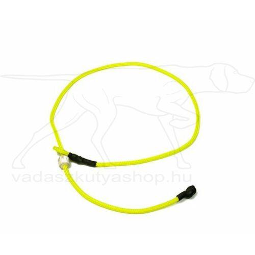 "Mystique® Field trial moxon ""Short leash"" póráz 4mm 80cm neonsárga"
