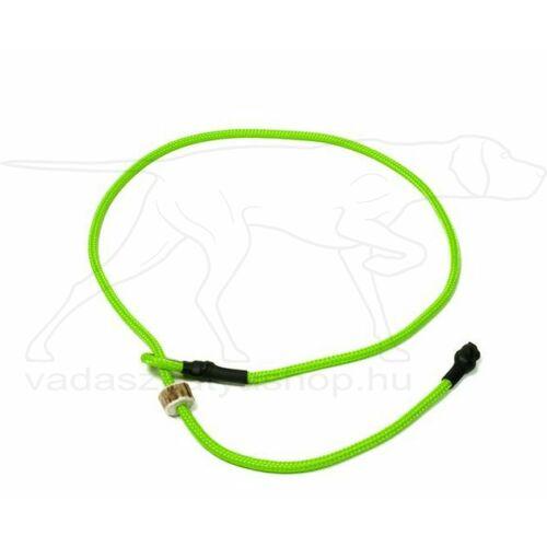 "Mystique® Field trial moxon ""Short leash"" póráz 4mm 80cm neonzöld"