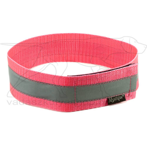 Mystique® Fényvisszaverő nyakörv 35cm neonrózsaszín