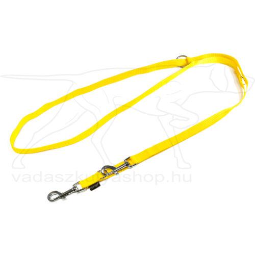 Mystique® Nylon kiképző póráz 20mm sárga 250cm