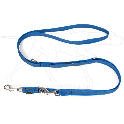 Mystique® Gumírozott kiképző póráz 20mm kék 250cm