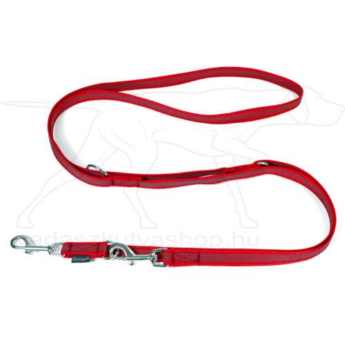 Mystique® Gumírozott kiképző póráz 20mm piros 250cm
